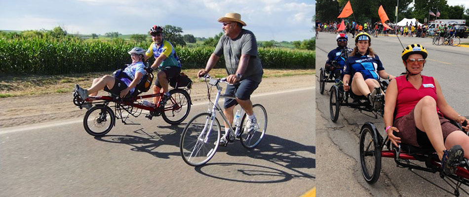 Hase Bikes Pino and Kettwiesel at RAGBRAI
