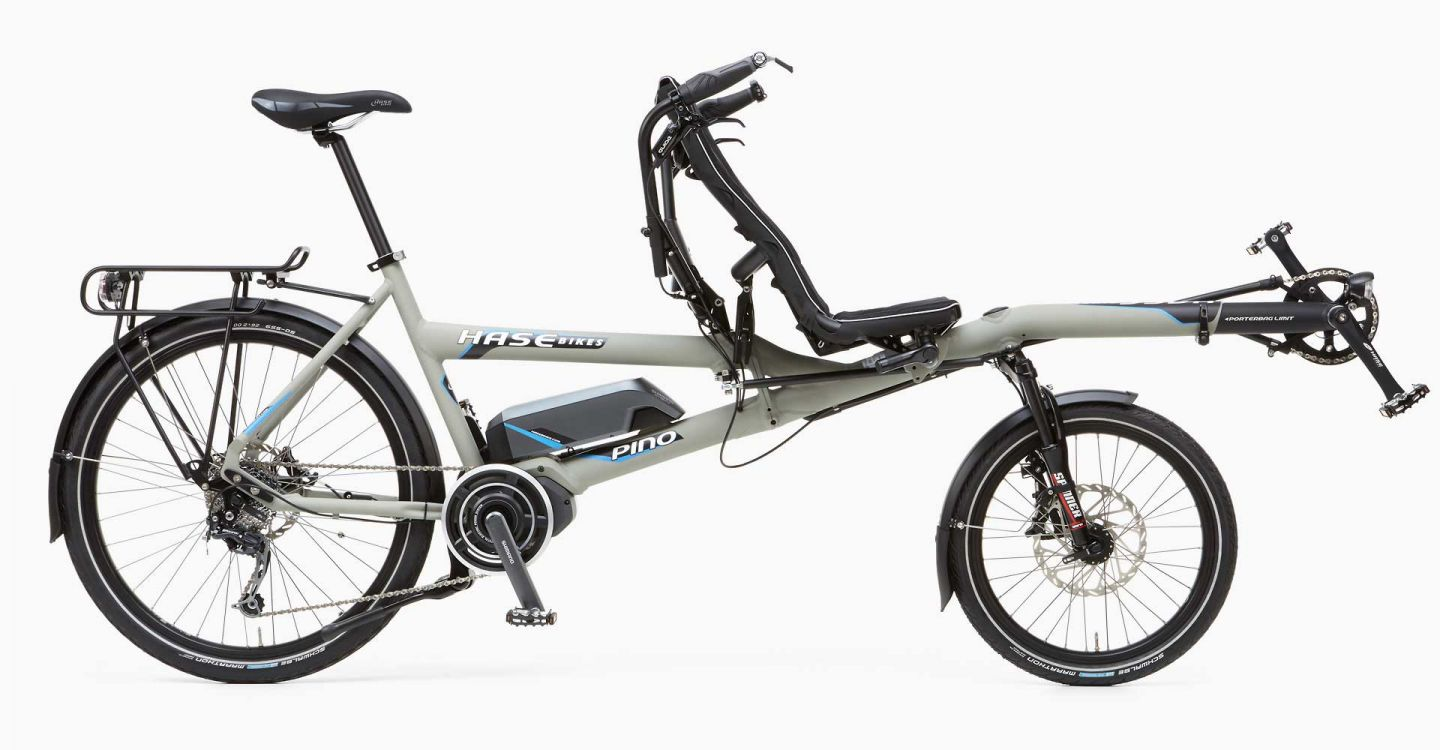 Hase Bikes Pino Steps tandem bike with e-motor