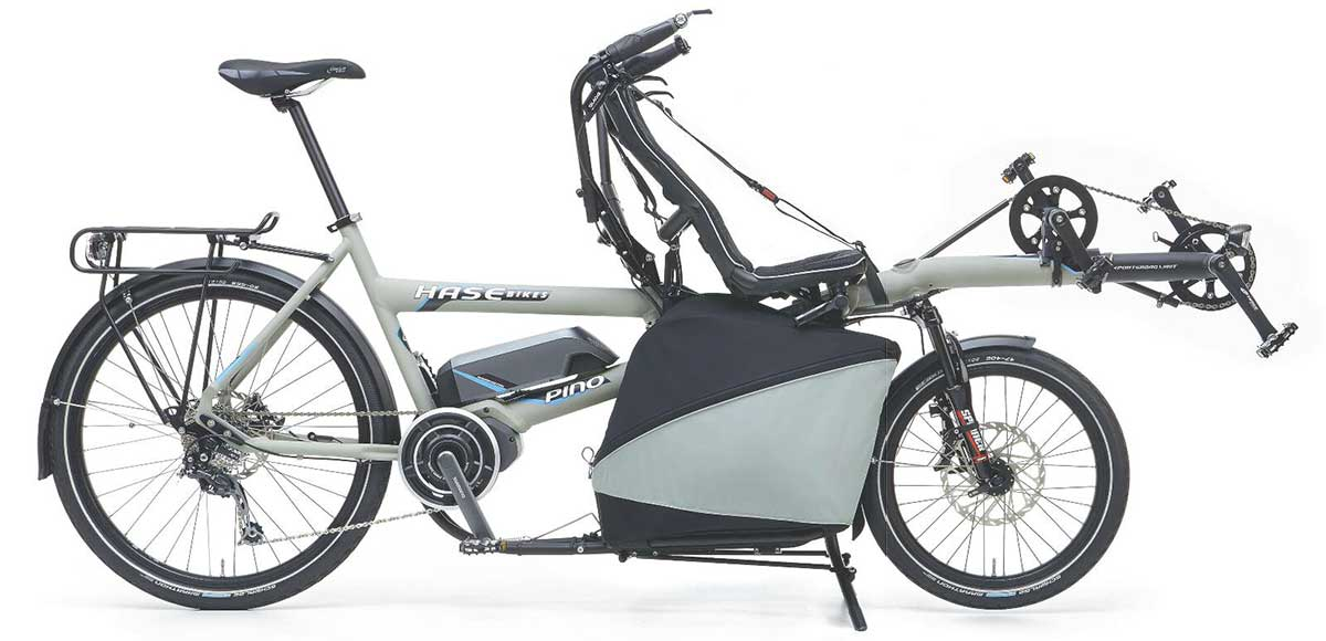 hase pino steps recumbent tandem bike side view