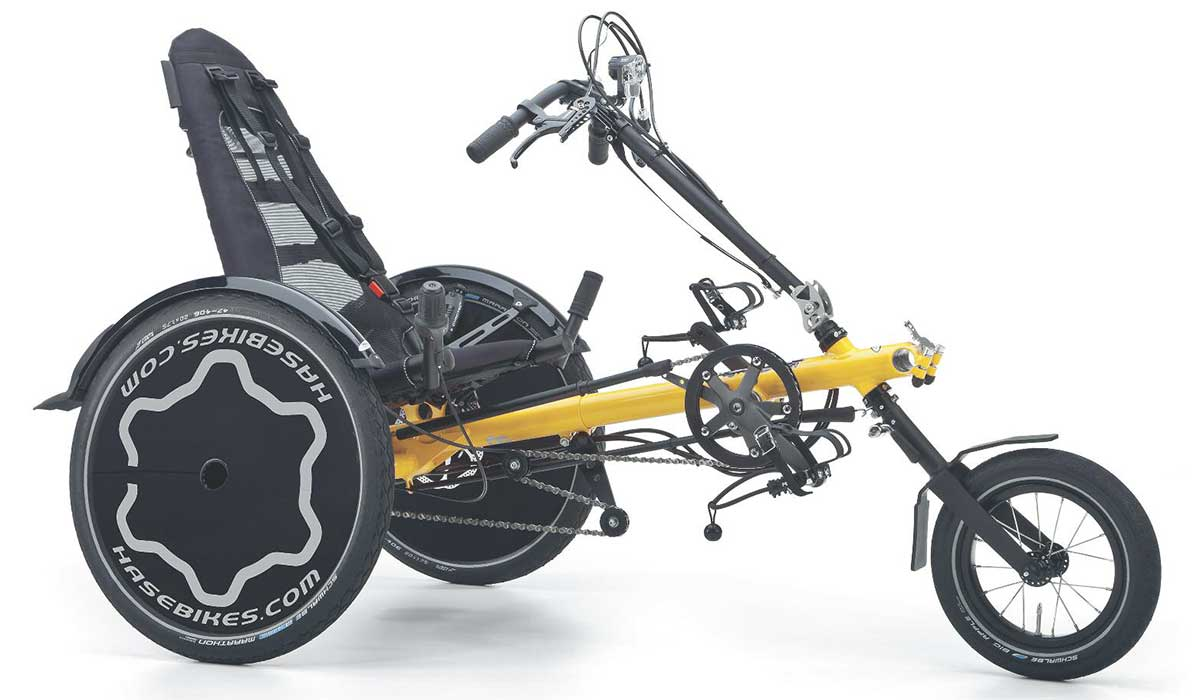 hase bikes trets reh kids adaptive recumbent trike side view