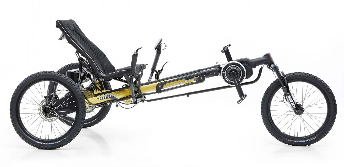Kettwiesel Cross recumbent trike side view