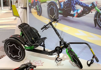 The newly designed Hase TRETS recumbent trike for kids