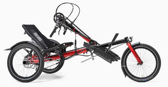Hase Handbike recumbent trike side view